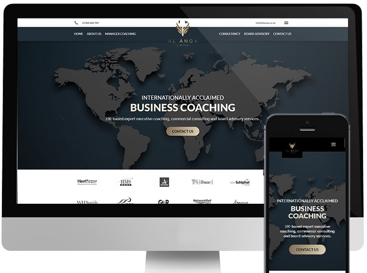 Website completed for international business coach based in Scotland