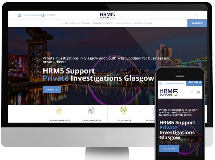 Website built for Glasgow private investigator