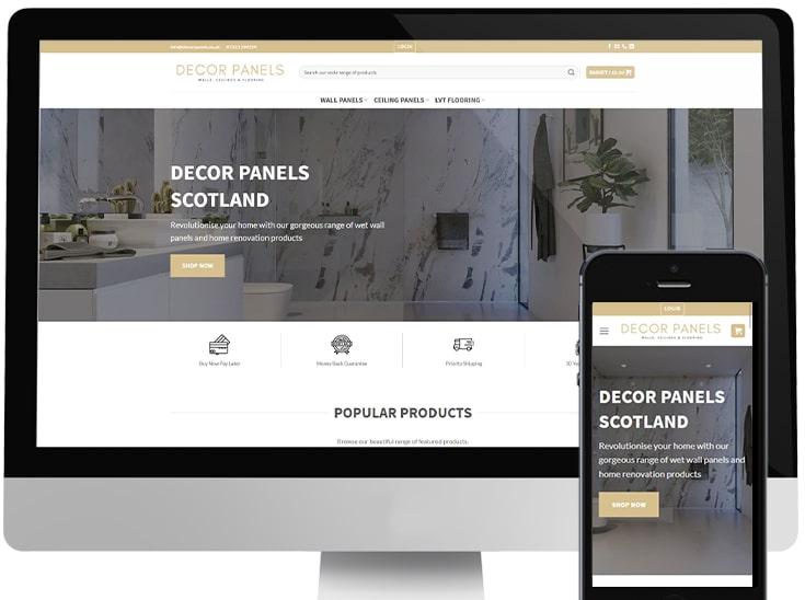 Ecommerce website development Scotland