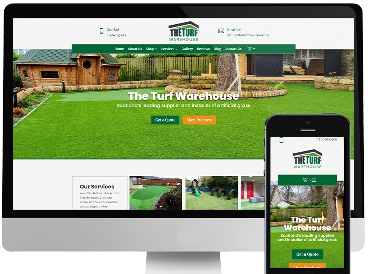 Website designed for landscaping and construction company in Livingston